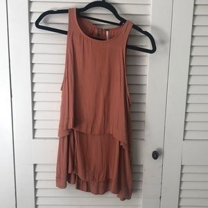 Free people shirt  in a rustic peach color
